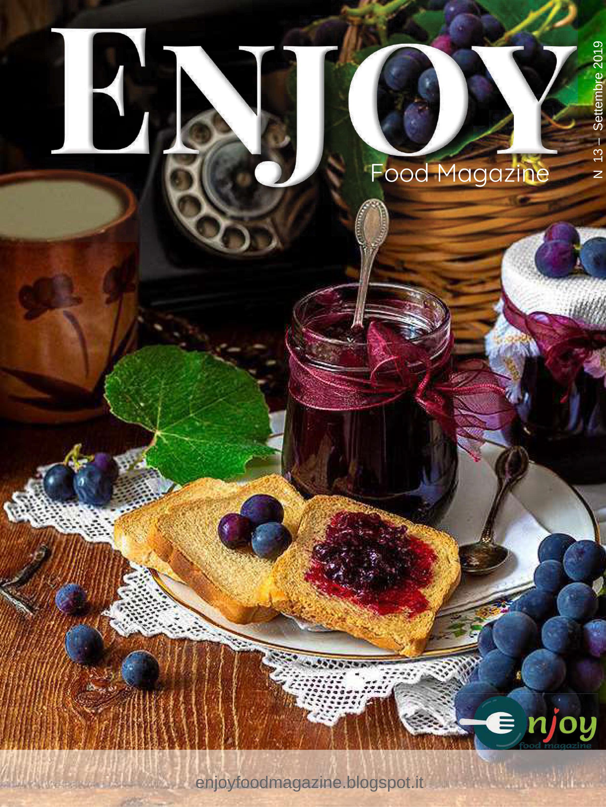 Copertina del numero di Enjoy Food Magazine n.13 dedicato alle conserve