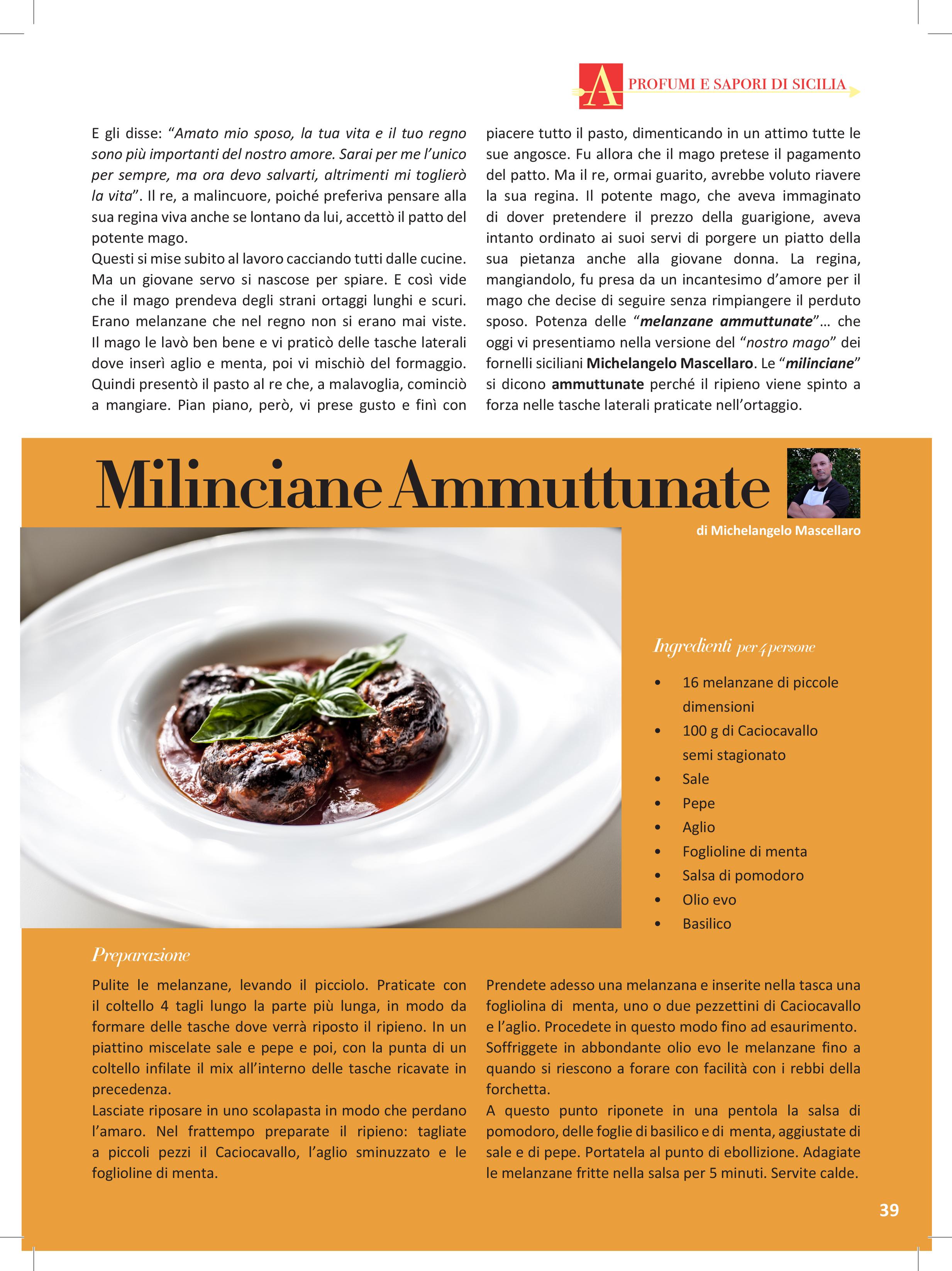 la ricetta delle milinciane ammuttunate su Cucina a Sud n.73