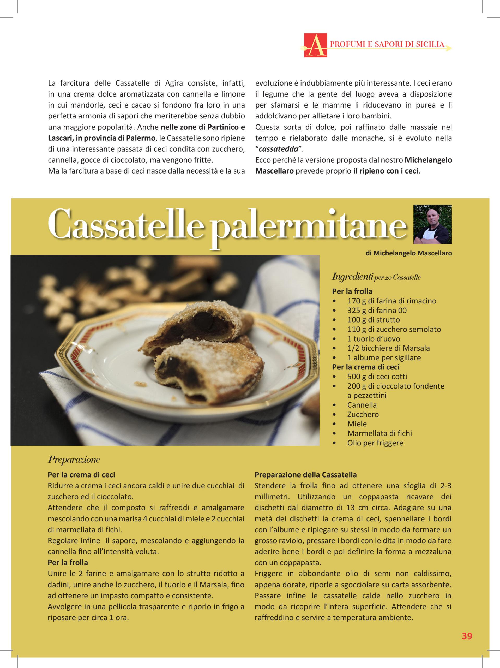 la ricetta delle Cassatelle Palermitane su Cucina a Sud