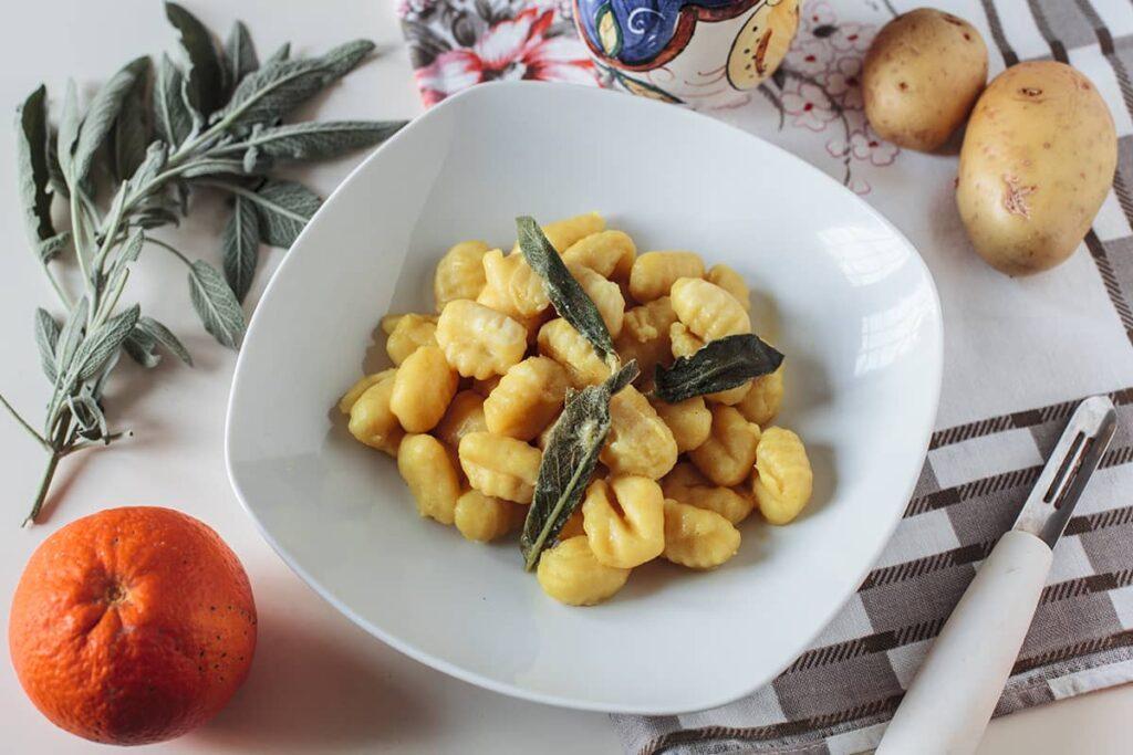 Gnocchi di patate al profumo d'arancia